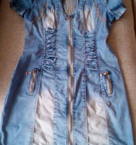 Джинсы и дж. платье р.29