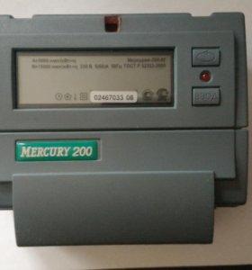 элетросчётчик двухтарифный однофазный Меркурий 200