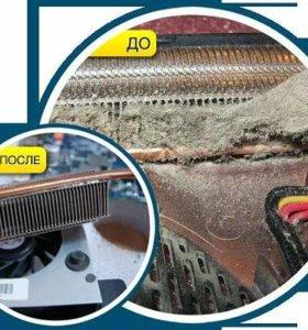 Чистка ноутбука (пк) замена термопасты