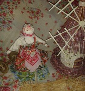 Тряпичная русская-нородная кукла-оберег
