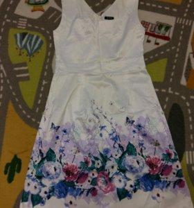 Атласное платье (р46)