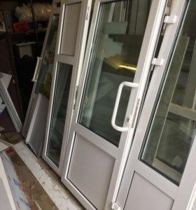 Продам дверь из алюминиевого профиля
