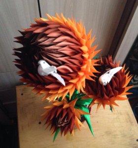 Цветок с птицами