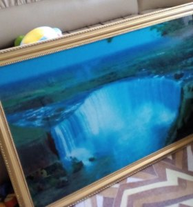 Картина водопад с пением птичек