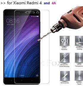 Защитное стекло Xiaomi Redmi 2, 3, 3s, 4А, Note4