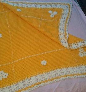 Продам вязанную детскую одеяло