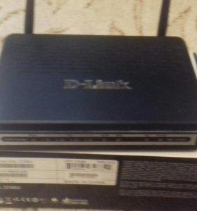 Маршрутизатор беспроводной D-Link DSL-2740U