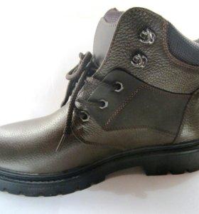Мужские ботинки, натуральная кожа и мех