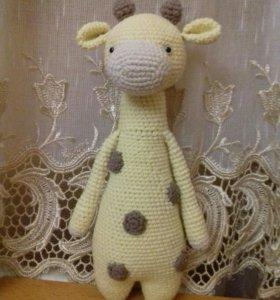 Вязаная игрушка: Жираф