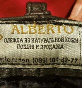 кожанные байкерские штаны Альберто