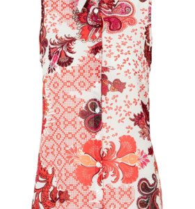 Новая 56/58 Блуза Розовая с Цветами Шифон