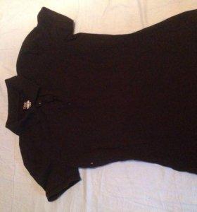 Чёрная футболка поло