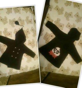Пальто кофта кардиган вязанное