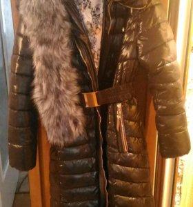 ЗИМА!!!Куртка-плащ зимняя и теплая 54-56размер.