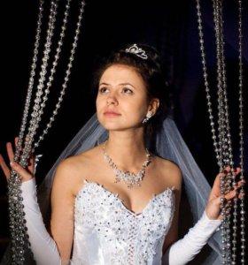 Свадебное платье+ фата