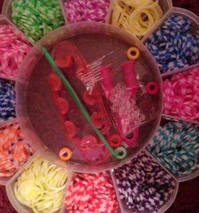 Набор для плетения браслетов из резиночек