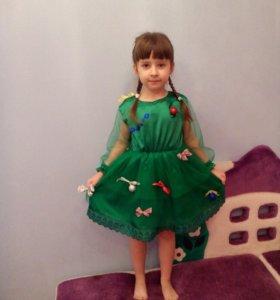 Платье новогодней елочки