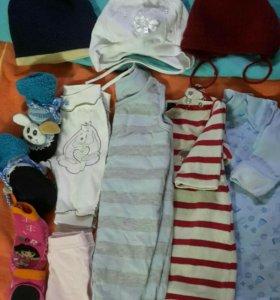 Одежда для девочки 6-12 мес