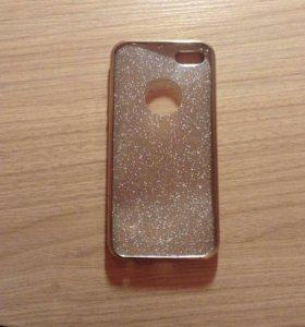 Чехол на iPhone 5,5s+защитное стекло