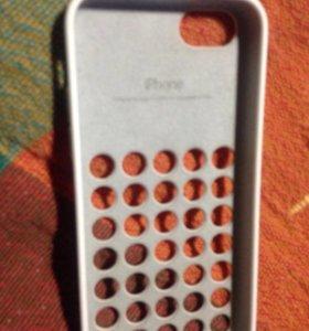 Чехол для айфона оригинальный белый! Новый !