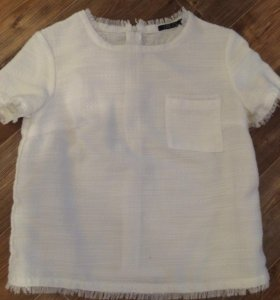 Белая блуза футболка