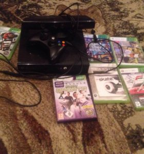 Xbox 360 + игры и кинект