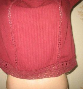Винтажная бардовая блуза