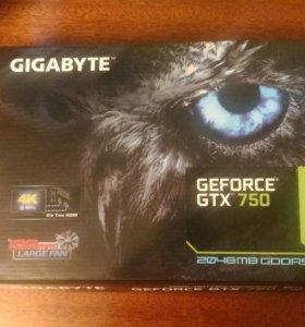 Видеокарта Nvidia Gigabyte gtx 750 2 Gb