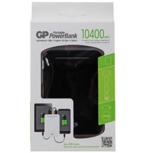 GP Power Bank 10400мАч черный