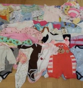 Два пакета вещей на девочку 56-68 размер