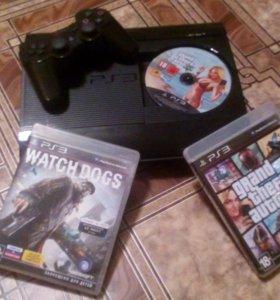 PlayStation 3 super slim 500GB + 4 диска