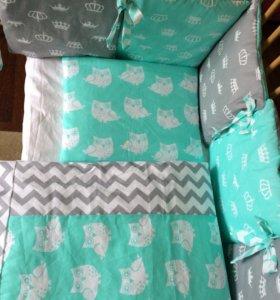 Комплект в кроватку для новорождённого, бортик