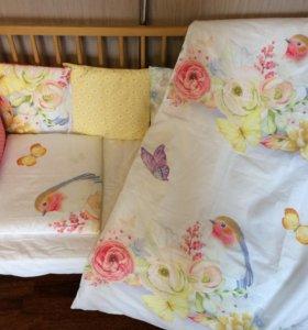 Комплект в кроватку для новорождённого, бортики