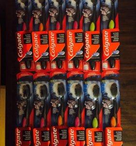 Зубная щётка COLGATE 360' древесный уголь.