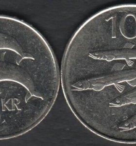 2 монеты Исландии