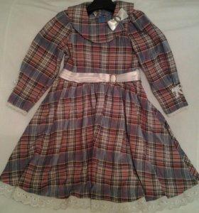 Платье в клеточку на девочку.