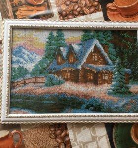 """Картина из бисера """" Зима"""""""