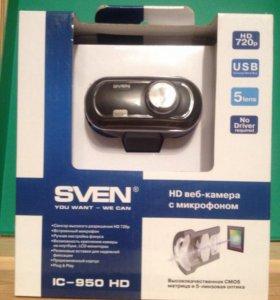 HD веб- камера с микрофоном, CMOS матрица.