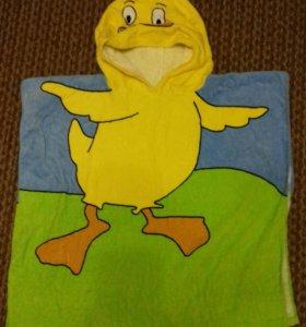 Детское махровое полотенце-накидка