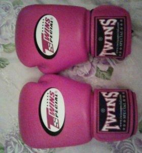 перчатки боксерские,100% натурально кожанные