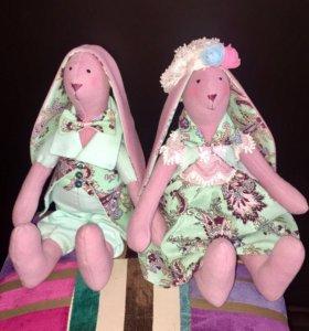 2 Куклы Тильда-зайки