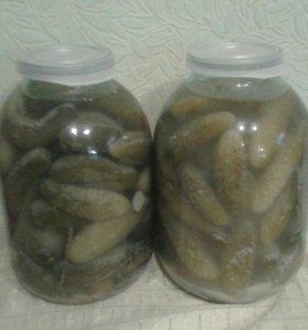 Огурцы соленые