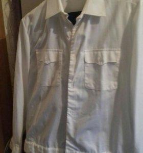 Офицерская белая рубашка