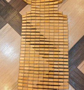 Продам накидку на сиденья в авто бамбук