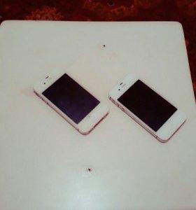 2 айфона 4с