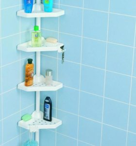 Полка в ванную угловая 4 секции