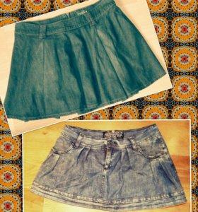 Юбки джинсовые бу