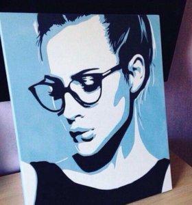 Поп-арт портреты по фото и картины