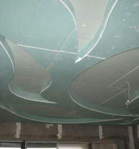 Потолки из гипсокартона, арки, ниши, перегородки.