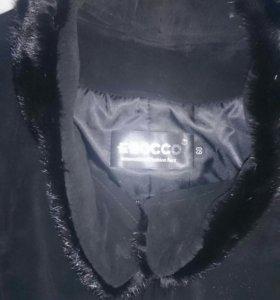 Пальто новое,замшевое